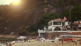 Playa Vermelha am Fuß von Sugar Loaf Mountain Lizenzfreies Stockfoto
