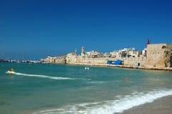 Playa vieja de Akko - ciudad antigua famosa de Israel Imagenes de archivo