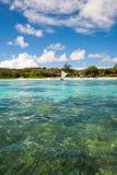 Playa vista de un barco Foto de archivo