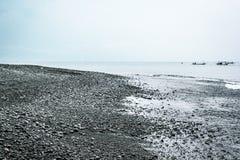 Playa volcánica Imagenes de archivo