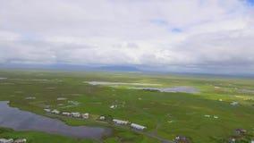 Playa volcánica en Islandia meridional metrajes