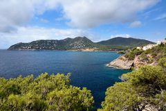 Playa w Majorca Canyamel Obraz Royalty Free
