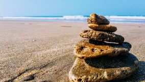Playa y arena imagen de archivo libre de regalías