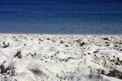 Playa y Arena Islas Cies Royalty Free Stock Photo