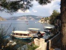 Playa y bahía de Turquía Turunc Imagen de archivo