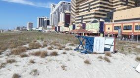 Playa y casino de Atlantic City almacen de video