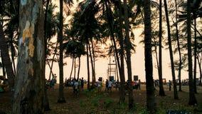 Playa y cielo de la puesta del sol Fotografía de archivo libre de regalías