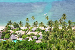 Playa y coco Imagen de archivo