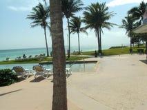 Playa y edificios de la Florida imágenes de archivo libres de regalías