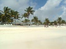 Playa y edificios de la Florida fotografía de archivo libre de regalías