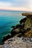 Playa y las piedras Fotografía de archivo
