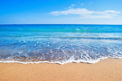 Playa y mar Imagen de archivo libre de regalías