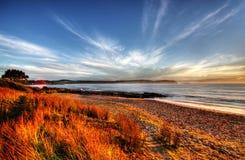 Playa y mar Foto de archivo libre de regalías