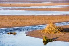 Playa y mar de Sandy imágenes de archivo libres de regalías