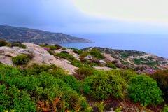 Playa y Mar Egeo Foto de archivo libre de regalías