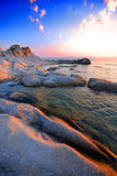 Playa y mar en Grecia   Foto de archivo