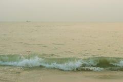 Playa y mar en paisaje Imágenes de archivo libres de regalías