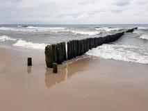 Playa y mar en Polonia imágenes de archivo libres de regalías