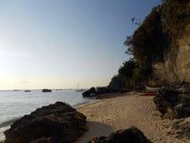 Playa y mar pacíficos de Boracay Imágenes de archivo libres de regalías