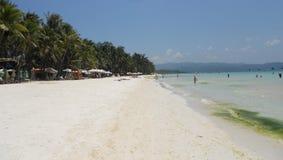 Playa y mar pacíficos de Boracay Fotos de archivo