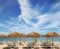 Playa y nubes. Imágenes de archivo libres de regalías
