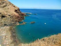 Playa y Océano Atlántico, Madeira Foto de archivo libre de regalías
