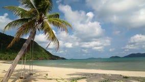 Playa y oscilación muy hermosos almacen de video