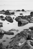 Playa y paisaje de Ostia imagen de archivo