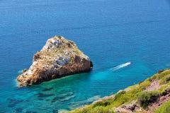 Playa y Pan di Zucchero, Costa Verde, Cerdeña, Italia de Spaggia di Masua imágenes de archivo libres de regalías