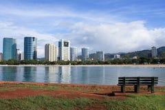 Playa y parque, Oahu, Hawaii de Moana del Ala. imagenes de archivo