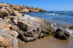 Playa y rocas Imagen de archivo libre de regalías