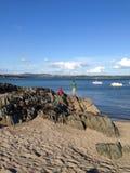 Playa y rocas escocesas Imagen de archivo libre de regalías