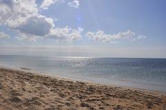 Playa y seaview vacíos Fotografía de archivo