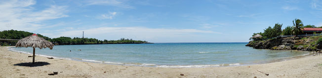 Playa Yaguanabo,全景,古巴 免版税库存照片