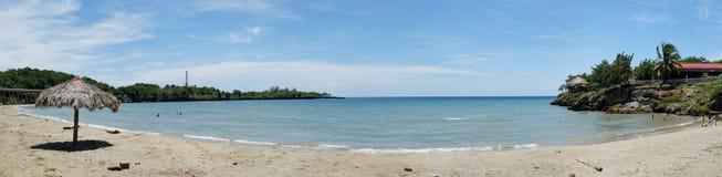 Playa Yaguanabo, visión panorámica, Cuba Foto de archivo libre de regalías