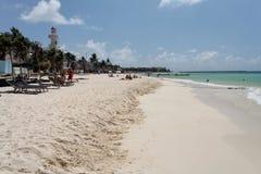 playa yucatan του Μεξικού παραλιών carmem d Στοκ Εικόνα