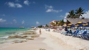 playa yucatan του Μεξικού παραλιών carmem del Στοκ φωτογραφία με δικαίωμα ελεύθερης χρήσης
