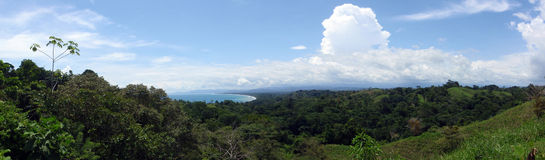 Playa Zancudo, Costa Rica Panoramic image Royalty Free Stock Image