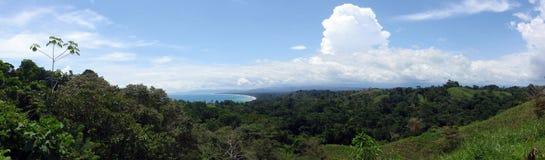 Playa Zancudo, het Panoramische beeld van Costa Rica Royalty-vrije Stock Afbeelding