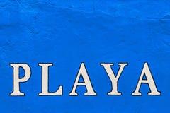 Playa-Zeichen Lizenzfreie Stockfotografie