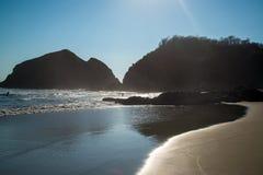 Playa Zipolite, пляж в Мексике стоковые фото