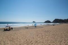 Playa Zipolite, strand in Mexico Stock Afbeeldingen