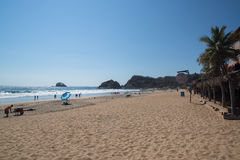 Playa Zipolite, strand in Mexico Royalty-vrije Stock Afbeelding