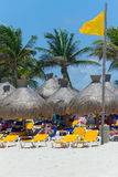 Playacar beach at Caribbean Sea in Mexico Stock Image