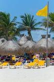 Playacar beach at Caribbean Sea in Mexico Stock Image