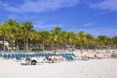 Playa del Carmen beach, Mexico. Playacar and Playa del Carmen beach, Mexico Stock Image