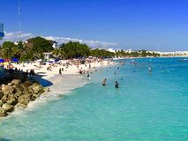 Playa del Carmen beach, Mexico. Playacar and Playa del Carmen beach, Mexico Royalty Free Stock Photo