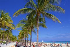Playa del Carmen beach, Mexico. Playacar and Playa del Carmen beach, Mexico Royalty Free Stock Image