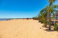 Playaen San Jose i Encarnacion i Paraguay royaltyfri bild