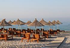 Playas asombrosas de Dhermi, Albania Fotos de archivo